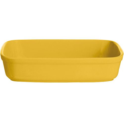 ~EXCELSA~Trendy陶製長型烤盤^(黃20.5cm^)
