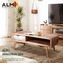 【ALMI】DOCKER VINTAGE-COFFEE TABLE 2 DRAWERS 雙抽咖啡桌
