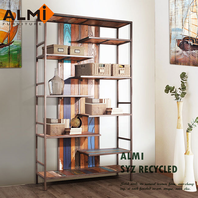 ~ALMI~SYZ RECYCLED~BOOK CABINET 船板復古書架