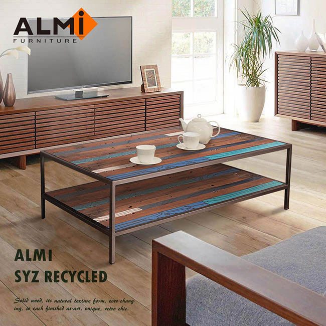 ~ALMI~SYZ RECYCLED~120x70 2 LEVELS 咖啡桌