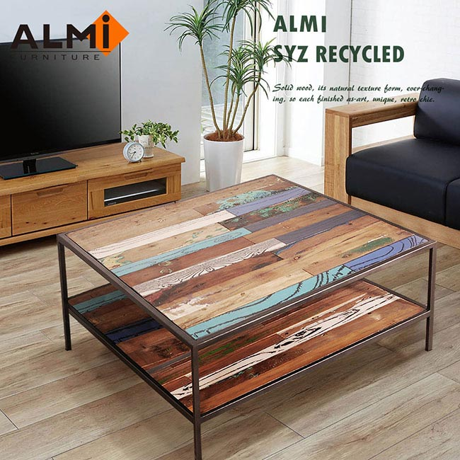 ~ALMI~SYZ RECYCLED~ 2 LEVELS 100X100 咖啡桌