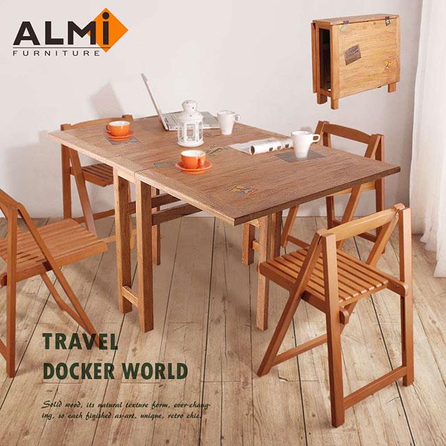 ~ALMI~DOCKER WORLD~DINING TABLE 2 FLAPS 蝴蝶餐桌