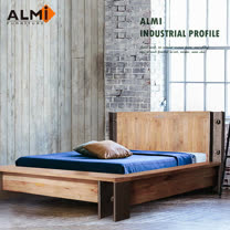 【ALMI】DOCKER PROFILE-BED 154X192 工業風雙人床