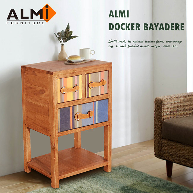 ~ALMI~DOCKER BAYADERE~CASUAL TABLE 3 DRAWERS