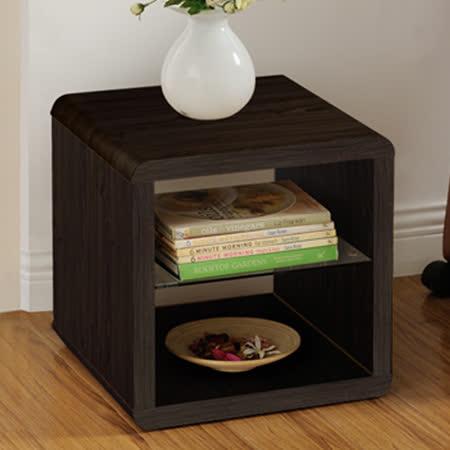 【Yomei】DIY極簡造型小茶几桌/邊桌/置物櫃(胡桃色)