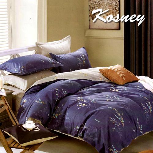 ~KOSNEY 蘇菲花園~雙人精梳棉四件式兩用被床包組