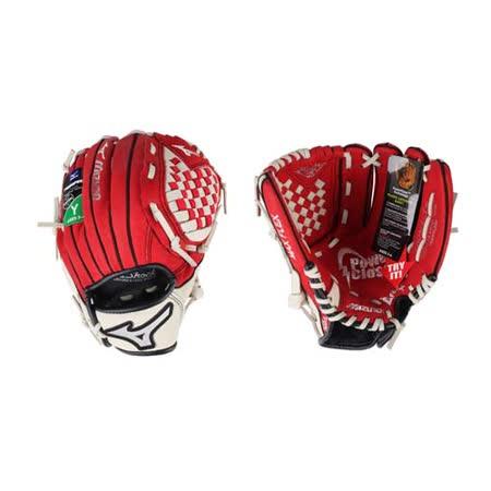 MIZUNO 少年用手套-右投 壘球手套 棒球 美津濃 紅米白 F