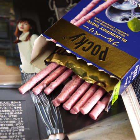 【Pocky】水果果肉餅乾棒-藍莓