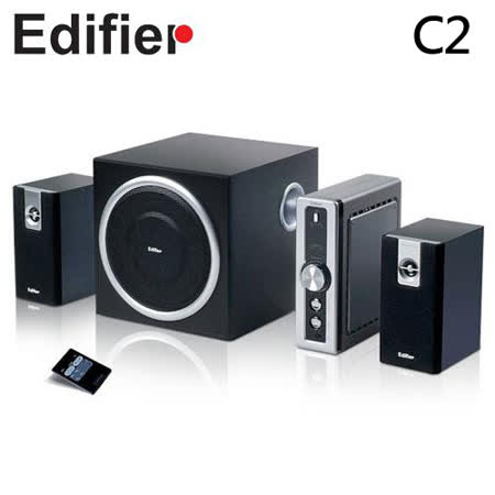 Edifier漫步者 C2 2.1聲道電腦喇叭 (遙控器)