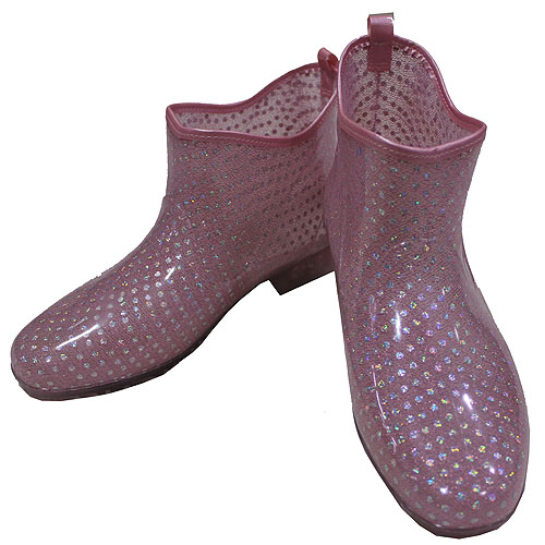 日本水玉金蔥雨鞋
