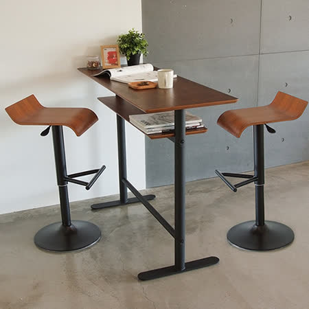 《Peachy life》設計款吧台桌椅組/一桌二椅/餐桌(2色可選)