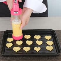PUSH!廚房用品 花式餅乾壓花機餅乾模具模裱花嘴裱花器烘焙工具D53-1粉色