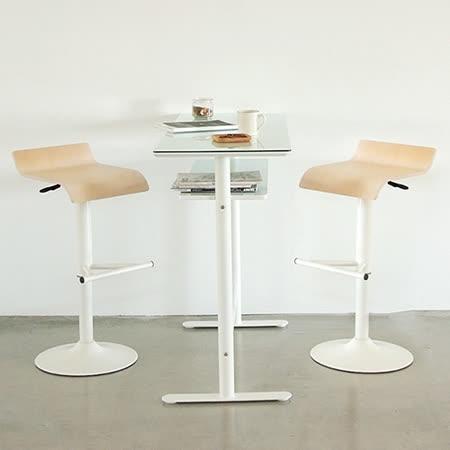 《Peachy life》設計款玻璃吧台桌椅組/一桌二椅/餐桌(2色可選)