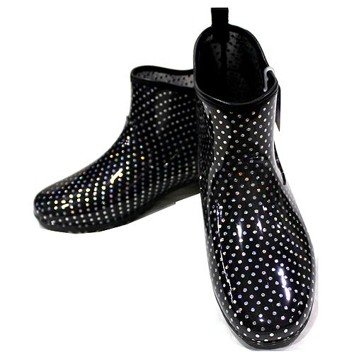 日本水玉銀點半統雨鞋