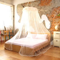 LAMINA 繡花蕾絲圓形睡簾