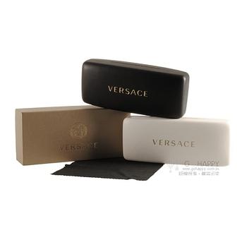 VERSACE 眼鏡 希臘風圖騰簡約款(漸層黑棕-銀) #VE3209A 5134