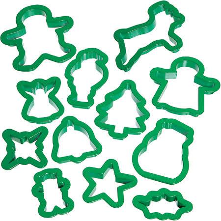 《KitchenCraft》桶裝餅乾模12件(聖誕)
