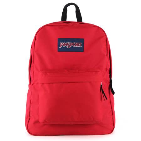 JanSport校園背包(SUPER BREAK)-紅