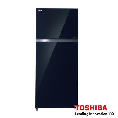TOSHIBA 東芝 505公升超靜音玻璃鏡面一級變頻電冰箱  雅典黑GR-HG55TDZ(XK)