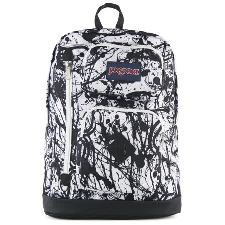 JanSport 校園背包 (AUSTIN)-黑色漆彈