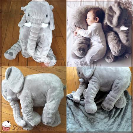 療癒系超大安撫大象 兩用收納抱枕+珊瑚絨空調毯/靠墊/午睡毯/抱枕