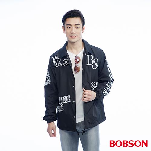 BOBSON 男款寬版印圖外套^(26001~88^)