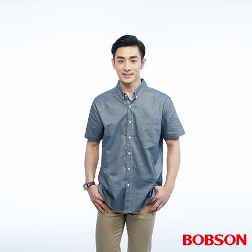 BOBSON 男款牛津布內配條紋襯衫^(26003~53^)