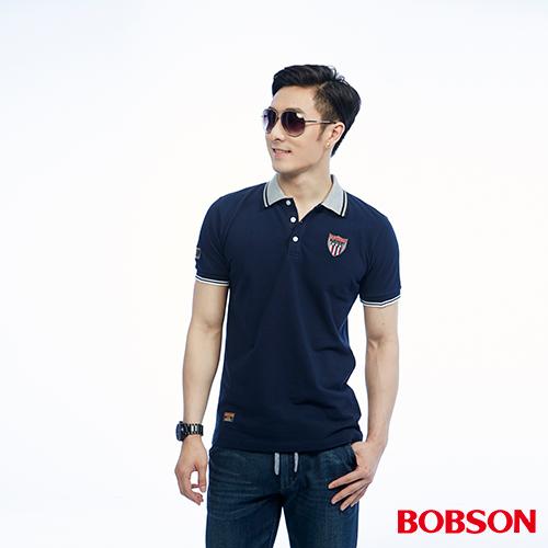 BOBSON 男款領配色polo上衣^(26011~53^)