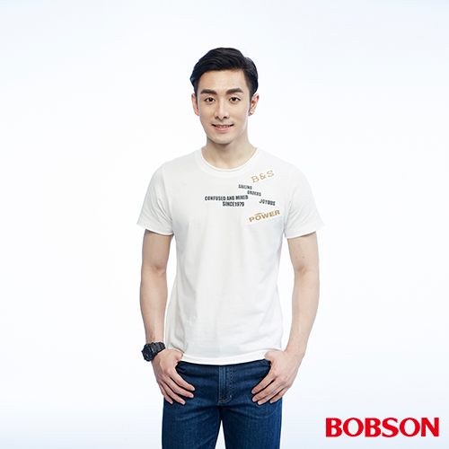 BOBSON 男款繡印字體上衣^(26019~81^)
