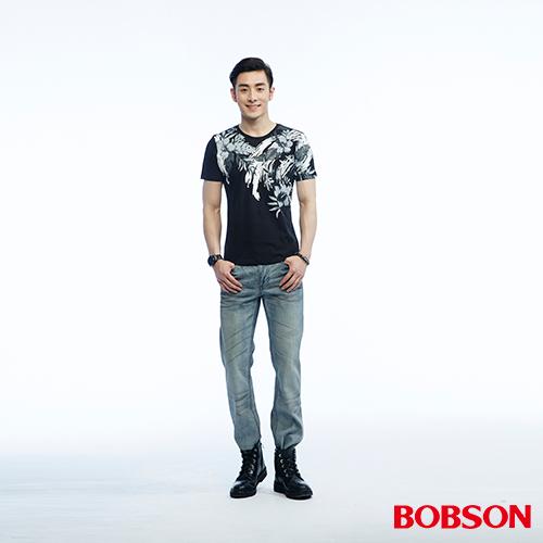 BOBSON 男款印花上衣^(26020~88^)