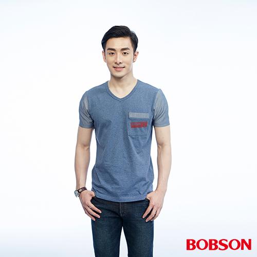 BOBSON 男款異素材 上衣^(26023~53^)