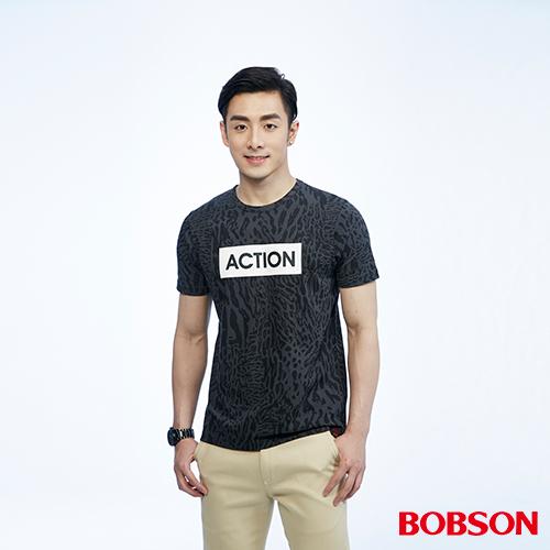 BOBSON 男款斑馬紋上衣^(26026~88^)