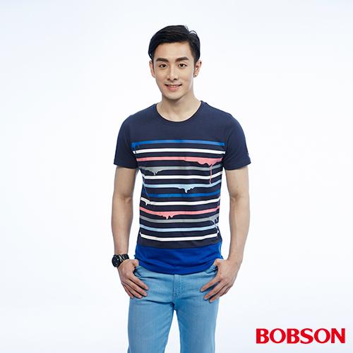 BOBSON 男款條紋上衣^(26030~53^)