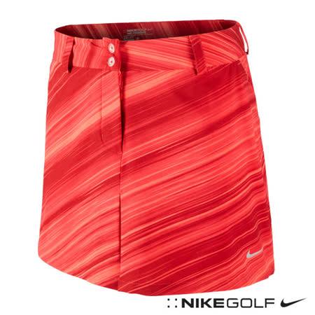 NikeGolf女子運動休閒條紋短裙(橘紅)623014-660