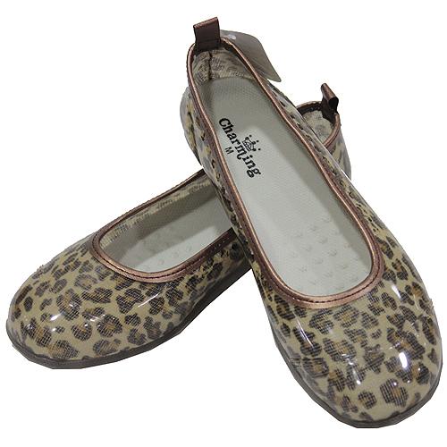 日本豹紋娃娃雨鞋-咖