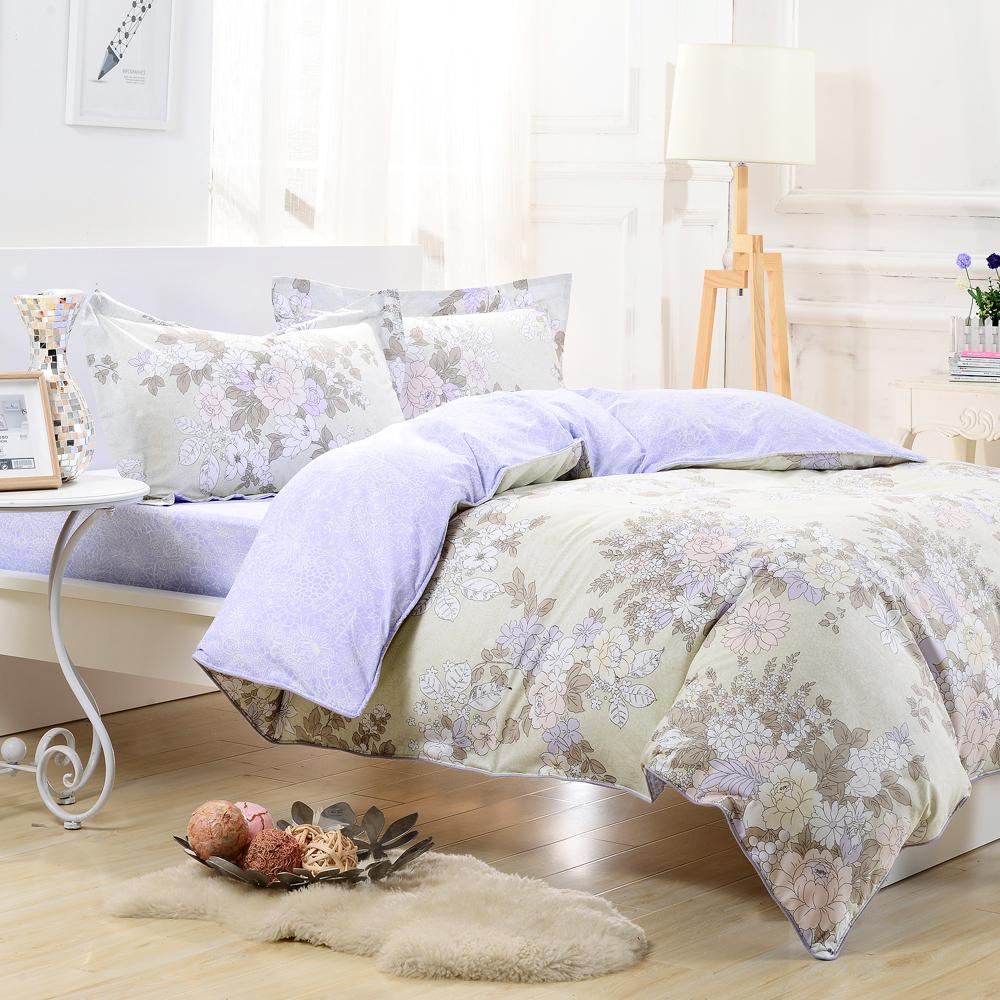 ~鴻宇HongYew~純棉系列 ikea風格 浪漫主義~雙人加大四件式兩用被床包組
