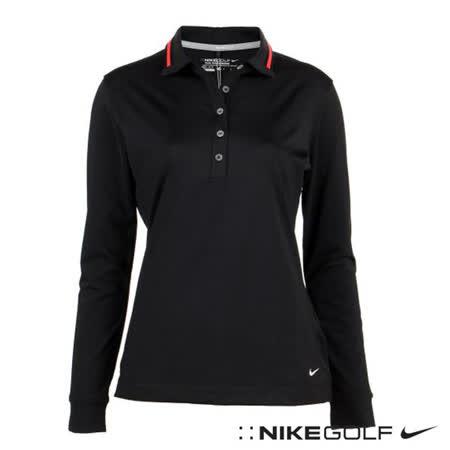 NikeGolf 機能運動快速排汗女子長袖POLO衫(黑)587366-016