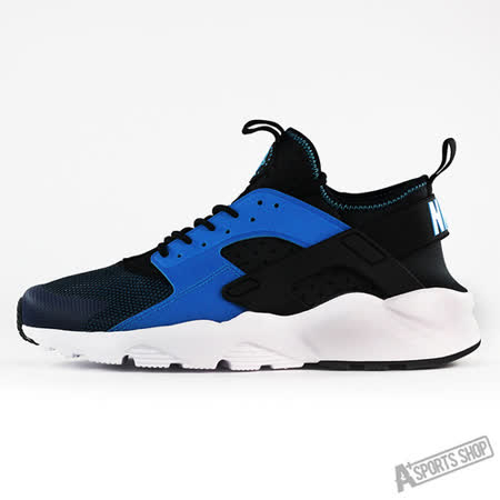 NIKE (男) NIKE AIR HUARACHE RUN ULTRA 休閒鞋 黑藍-819685401
