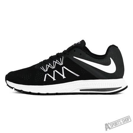 NIKE (男) NIKE ZOOM WINFLO 3 慢跑鞋 黑白-831561001