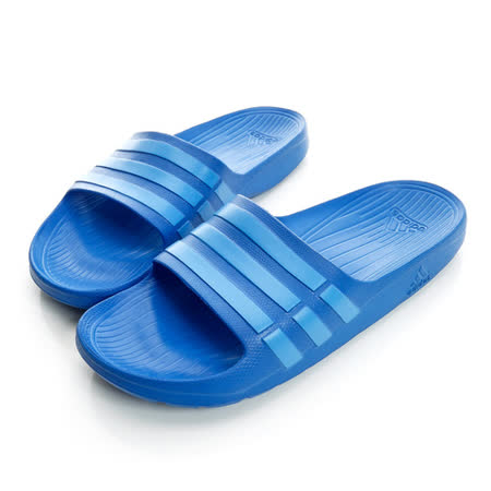 adidas(男)運動拖鞋 藍B44297
