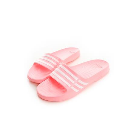 adidas (女) 運動拖鞋 粉紅B35947