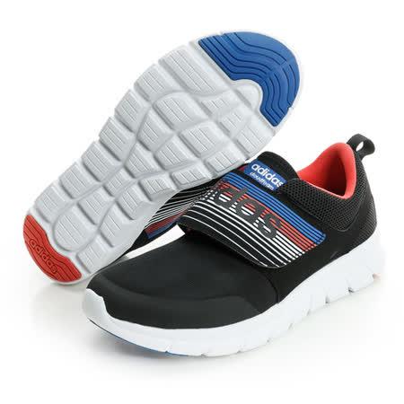 adidas (男) 透氣魔鬼氈休閒鞋 黑AQ1328