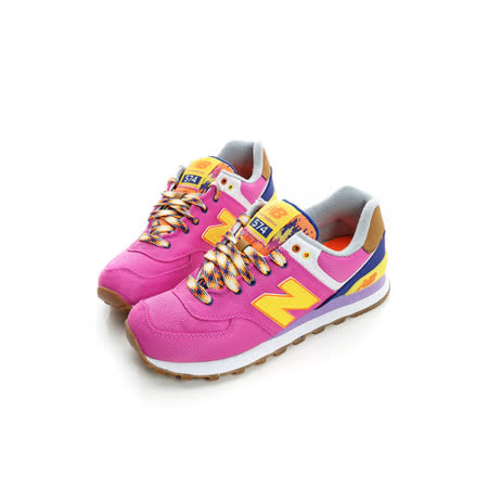 New Balance (女) 復古鞋 桃紫WL574EXB