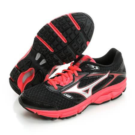 MIZUNO (女) 初階慢跑鞋 黑/紅J1GD161303