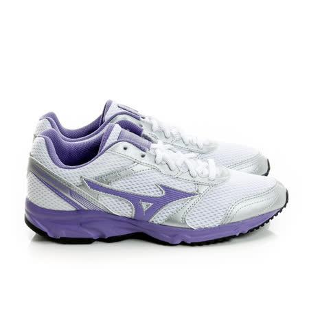 MIZUNO (女) 慢跑鞋 白/紫K1GA161360