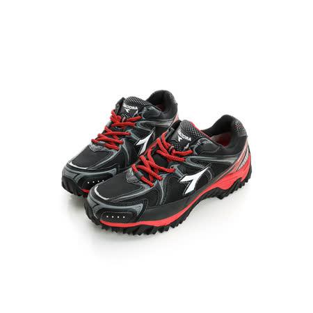 DIADORA (男) 越野跑鞋 黑紅DA4AMR9710