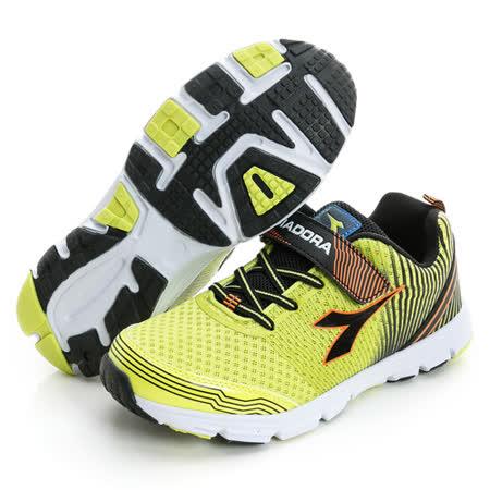 DIADORA (童) 慢跑鞋 綠橘黑DA6AKR3035