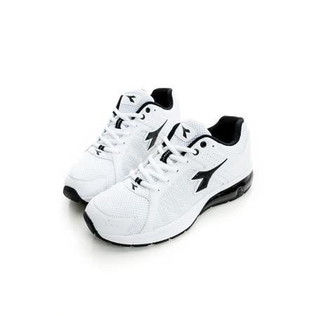 DIADORA (男) 氣墊慢跑鞋 白黑DA6AMR2818