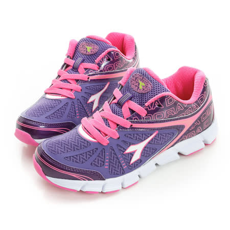 DIADORA(童) 慢跑鞋 紫DA5AKR2707