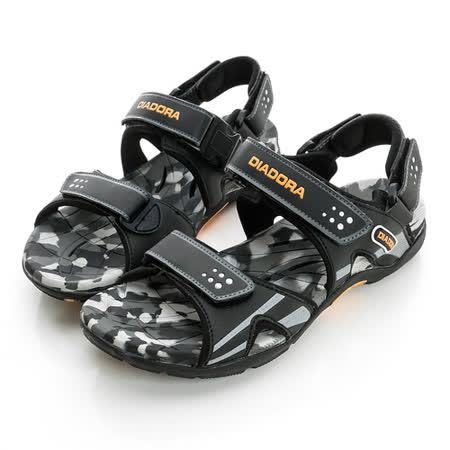 DIADORA (男) 運動涼鞋  黑灰橘DA6AMS3180